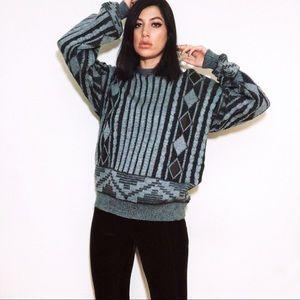 Sweaters - 90s Oversized Grunge Gray Boyfriend Sweater 🖤